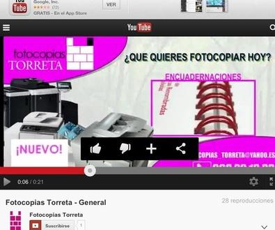 Fotocopias TORRETA en YOU TUBE