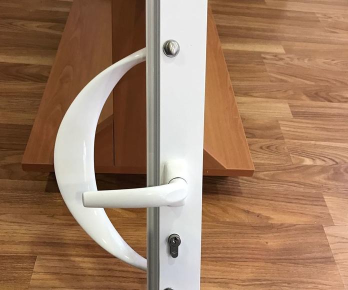 manivela tirador puerta de aluminio