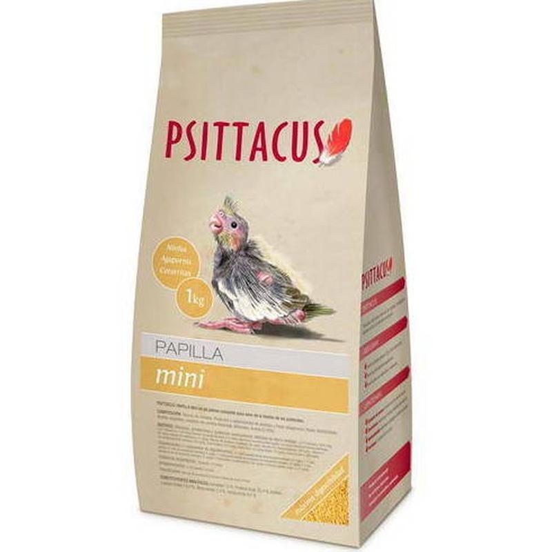 Psittacus Fórmula Mini Papilla 1kg y 350gr: Para tu mascota de New Art Can