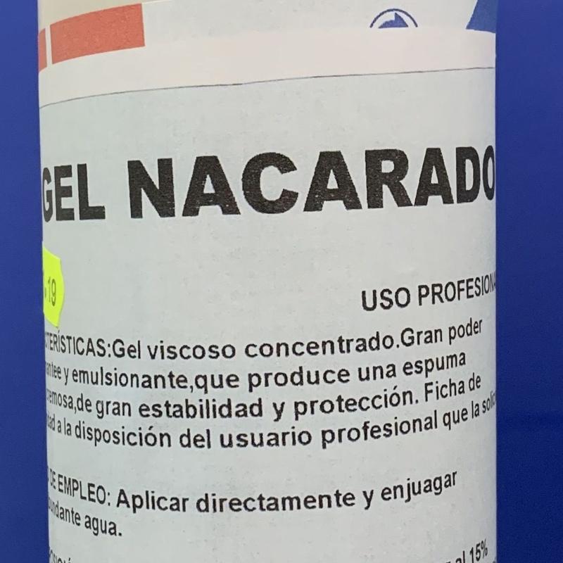 GEL NACARADO MANZANA 5L. : SERVICIOS  Y PRODUCTOS de Neteges Louzado, S.L.