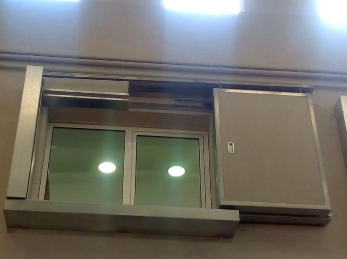 Puerta corrediza tipo ventana deslizante cortafuegos contra incendios