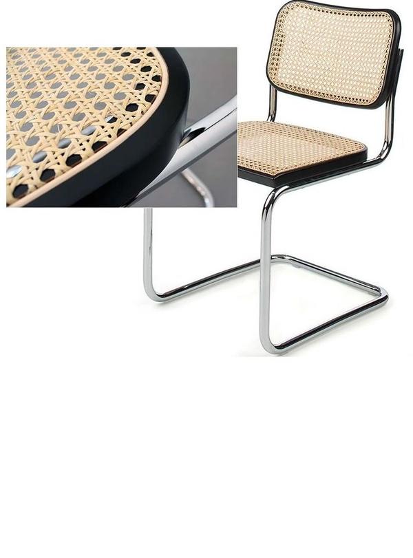 silla cesca sin brazos con marco lacado en negro a125€+iva