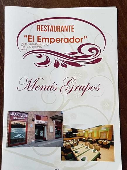 Menús para grupos - Restaurante ''El Emperador''