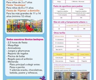 FIESTA PELU PARTY: NUESTROS SERVICIOS de AL TROTE ZONA INFANTIL