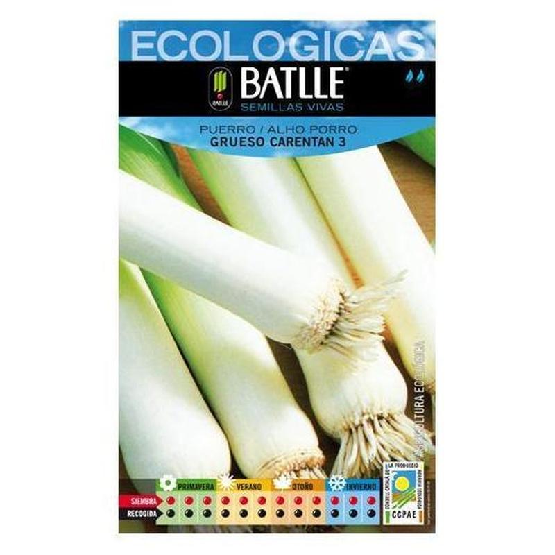 Semillas ecológicas de Puerro grueso Carentan 3 Ref.9