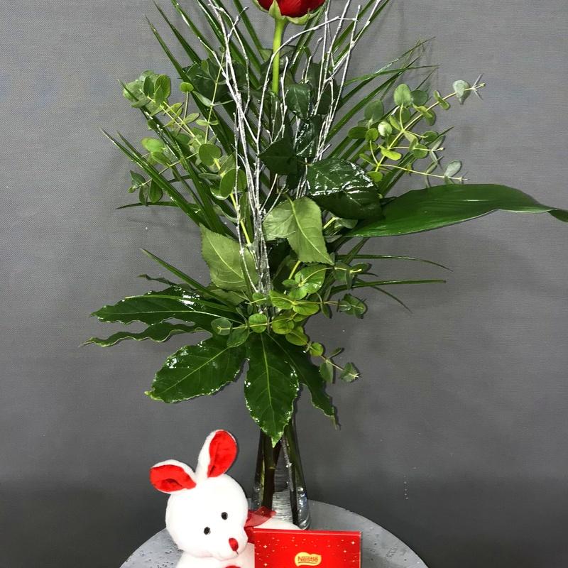 1 rosa roja: Productos de Flores Madrid