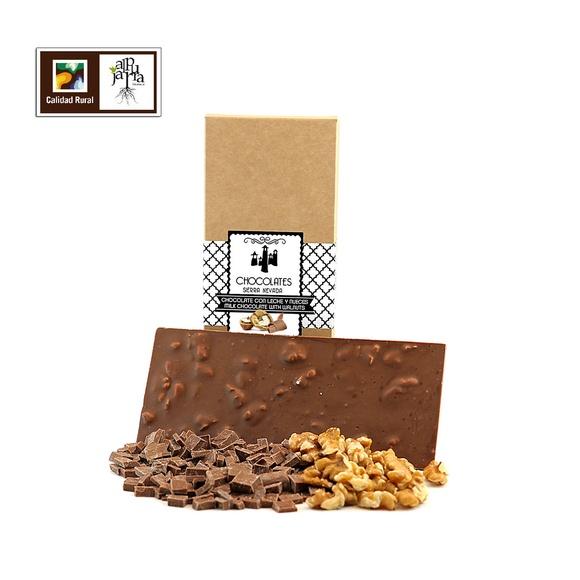 Chocolate con leche artesano y nueces: Nuestros productos de Chocolates Sierra Nevada