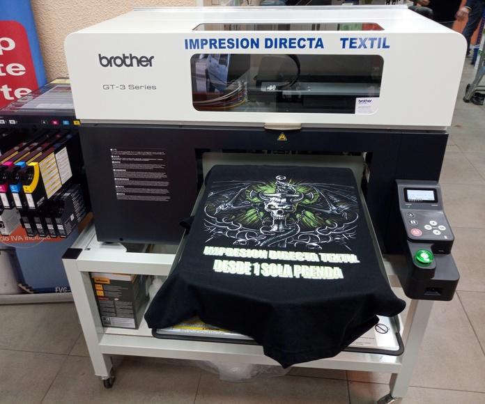 Impresión directa textil: Productos y servicios de Copias Pradillo