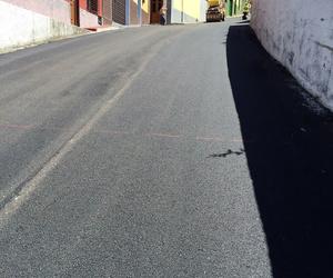Asfaltado de calle en Tenerife