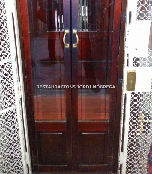 Restauración de una preciosa cabina de ascensor en el Eixample de Barcelona: Nuestros trabajos de Jordi Nóbrega Restauracions