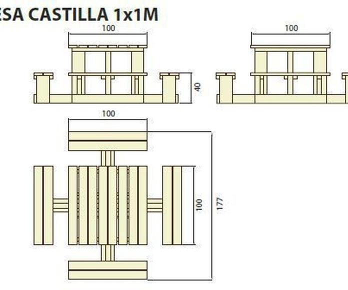 Mesa Castilla 1x1: ¿Qué podemos ofrecerte? de CM PLASTIK RECYCLING
