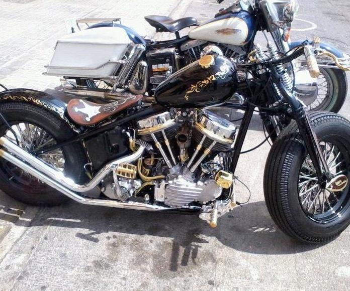 break skull choppers,harley davidson panhead,motos bobber,vintage moto