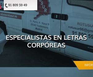Especialistas en rotulación y señalización en Valdemoro | Rótulos Rotusur