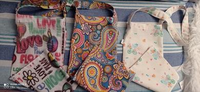 Bolsas de tela estrechas