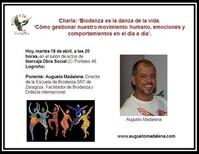 Charla sobre Biodanza a cargo de Augusto Madalena, en Logroño