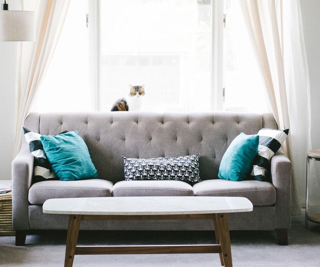 El confort descubierto por el diseño en el sofá