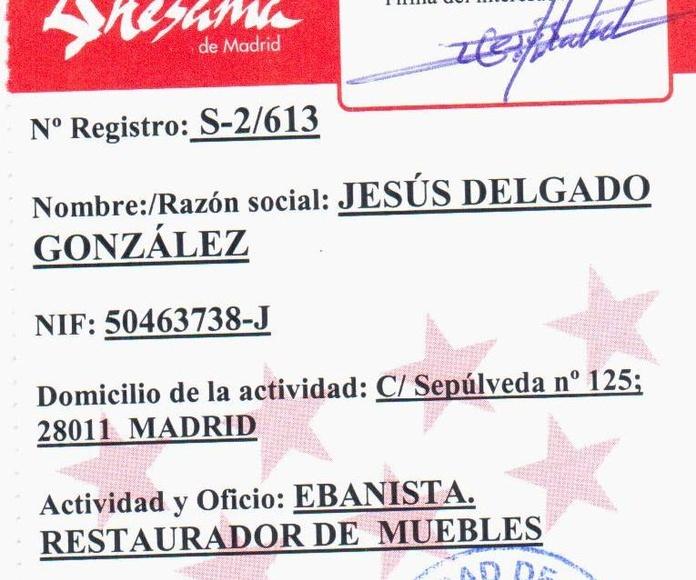 Empresa artesana reconocida por la Comunidad de Madrid