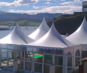 Carpas transparentes para eventos especiales