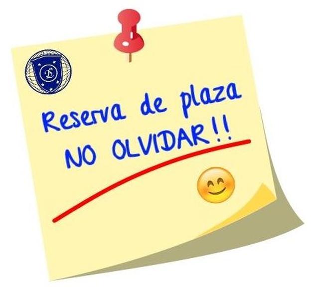 Reserva de plaza