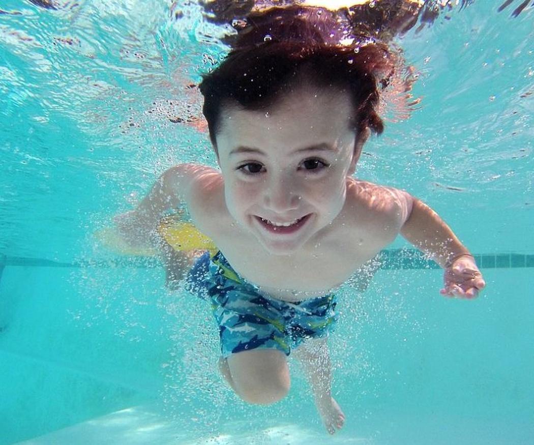 ¡A nadar desde niños!