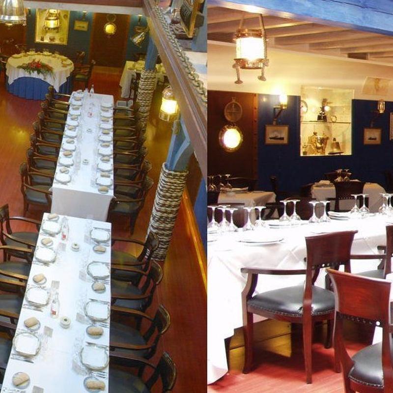 Menú Bitácora: Menús para Bodas y Empresas de Restaurante Untzigain - Museo el Barco