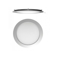 Downlight led redondo plata
