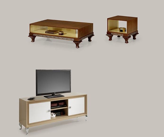 mueble tv mod 81 y mesas centro y rincón
