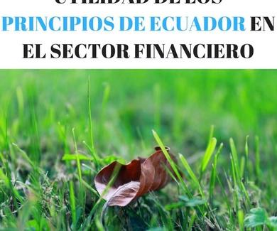 UTILIDAD DE LOS PRINCIPIOS DE ECUADOR EN EL SECTOR FINANCIERO