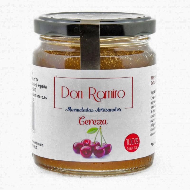 Mermelada extra de cereza sin colorantes ni conservantes.
