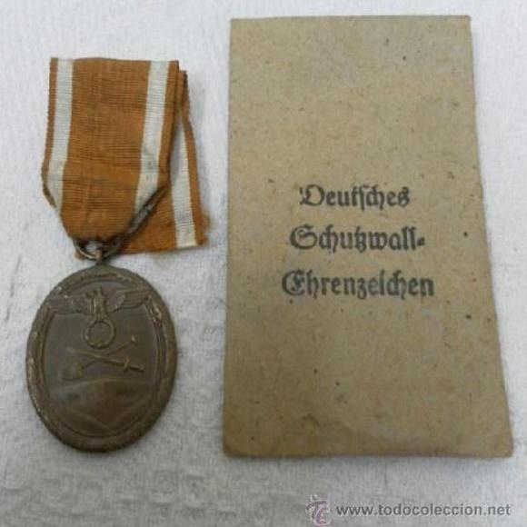 Alemania. Medalla del Muro del Atlántico. II Guerra Mundial: Catálogo de Antiga Compra-Venta