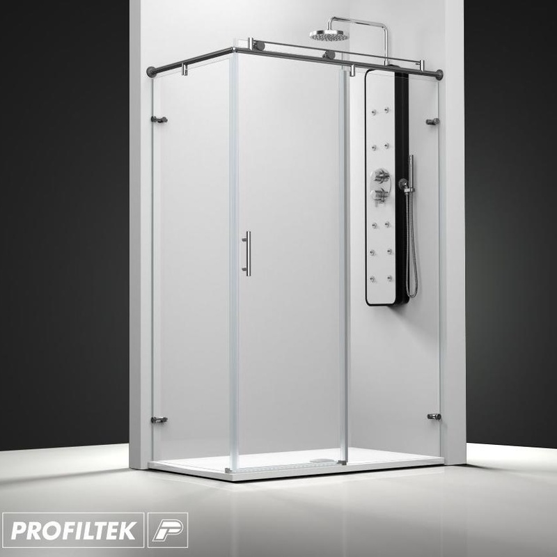 Mampara de baño Profiltek corredera serie Steel modelo ST-201 Classic