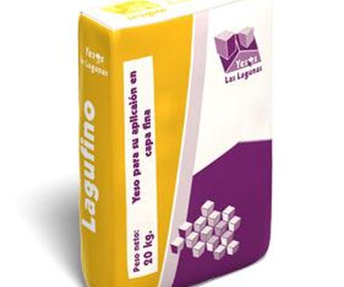 Lagufino / Yeso para aplicación en capa fina: Catálogo de Materiales de Construcción J. B.