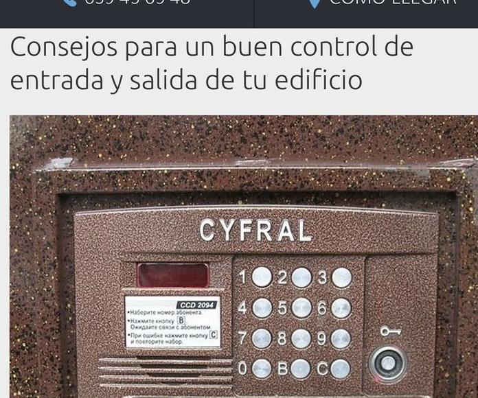 RUIMORMA empresa instaladora telefonillos Barrio del Pilar