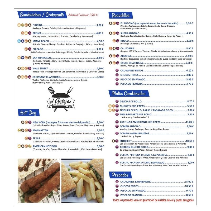 Carta digital El Antojao Burger:  of El Antojao Burguer