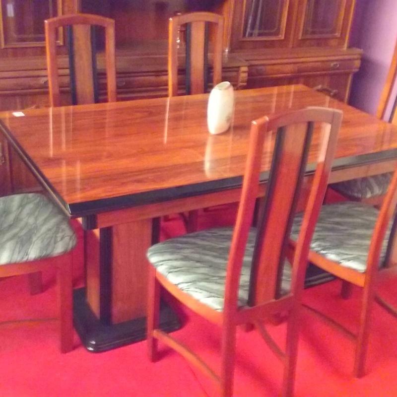 Mesa de comedor color caoba con 6 sillas: Nuestros productos de Remar Albir