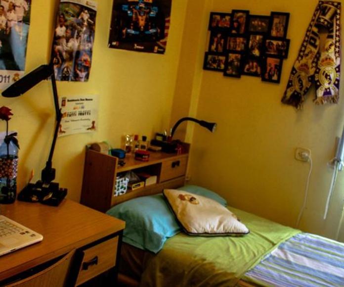 habitaciones individuales pequeña: SERVICIOS QUE OFRECEMOS de Residencia Universitaria Don Bosco