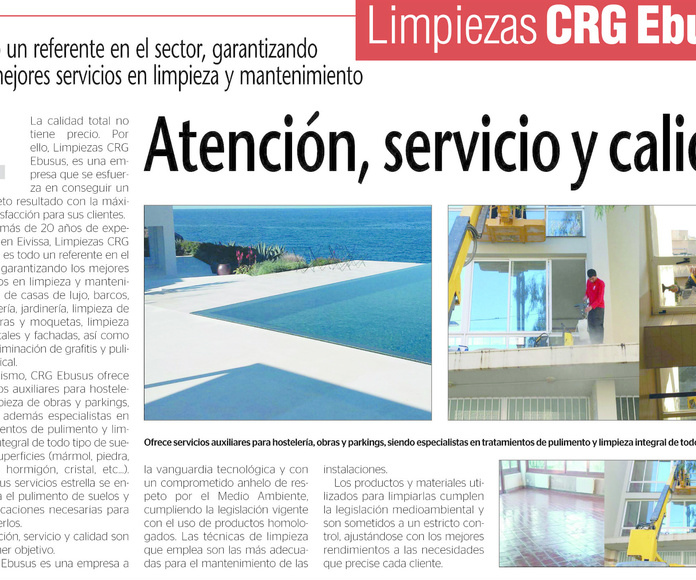 CRG Ebusus cleaning services