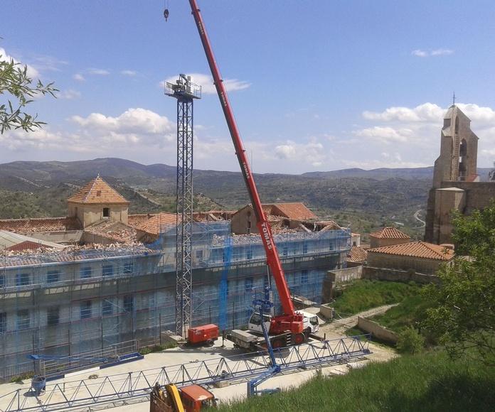 Retirada escombros Colegio Morella!
