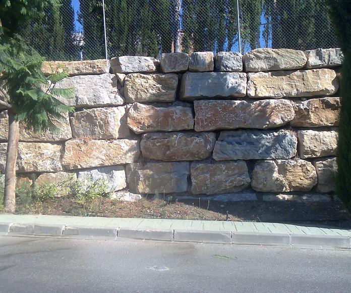 Construcción de muros de escolleras