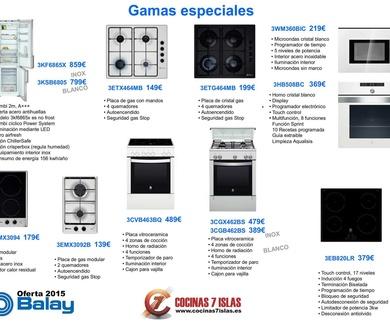 Oferta de electrodomésticos Balay 2015 para tu cocina a medida