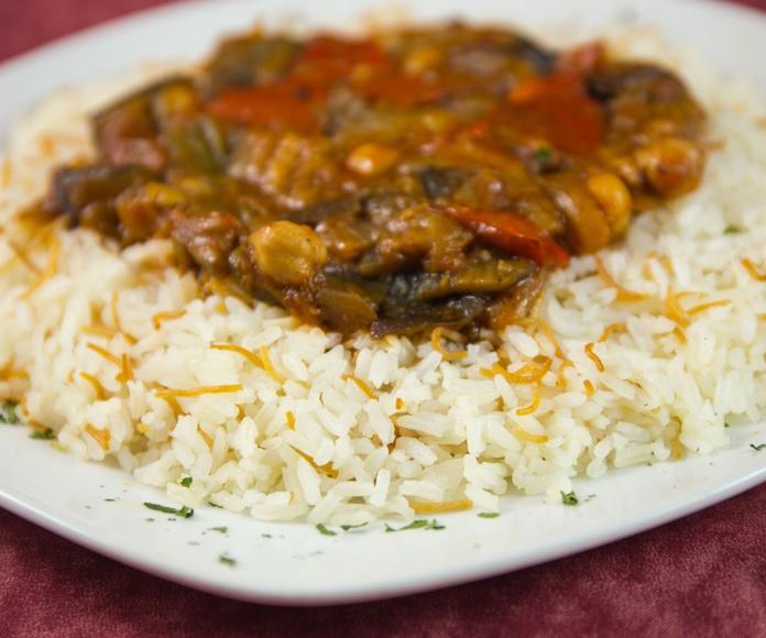 MUSAKAA VEGETAL: Carta of El Califa. Restaurante Árabe y Tetería