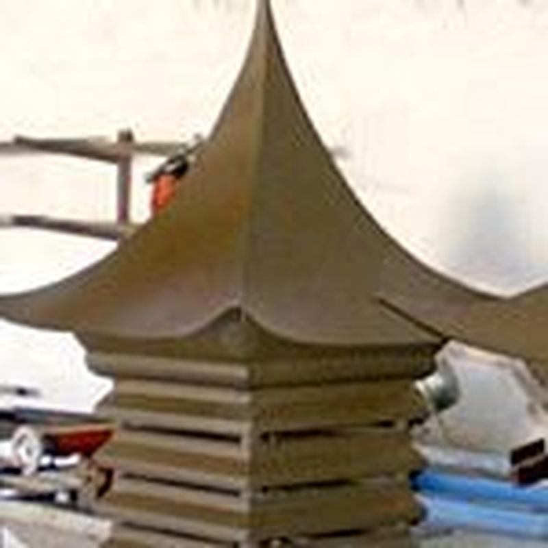Caperuzas para chimeneas : Trabajos de Cerrajería Alberto Bautista