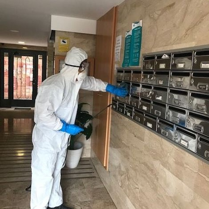 mantenimientos desinfección superficies Covid -19