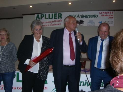 Entrega Reconocimiento a D.Jorge Barroso Barrera Secretario de FAJER en el XXV Aniversario de APLIJER