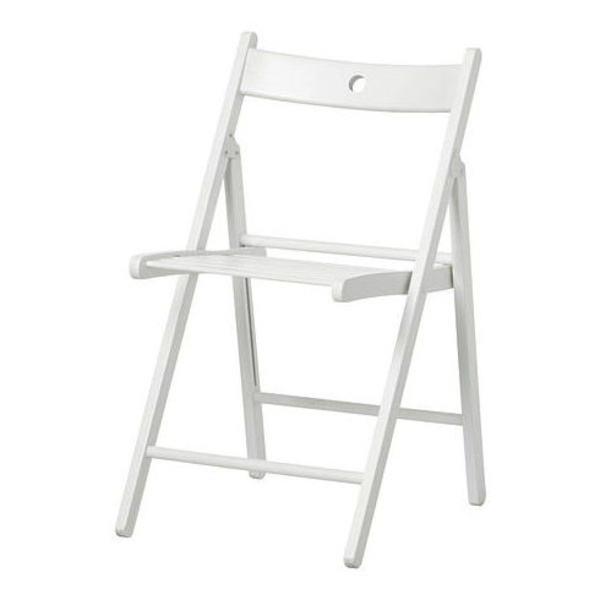 Alquiler silla madera plegable color blanco Asturias.