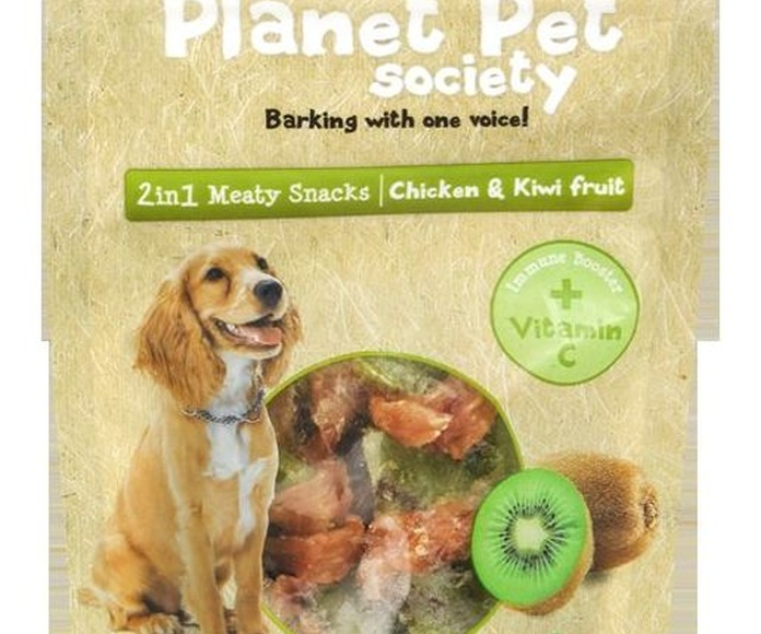 Planet Pet deliciosos snacks de kiwi y pollo bolsa de 70 gr