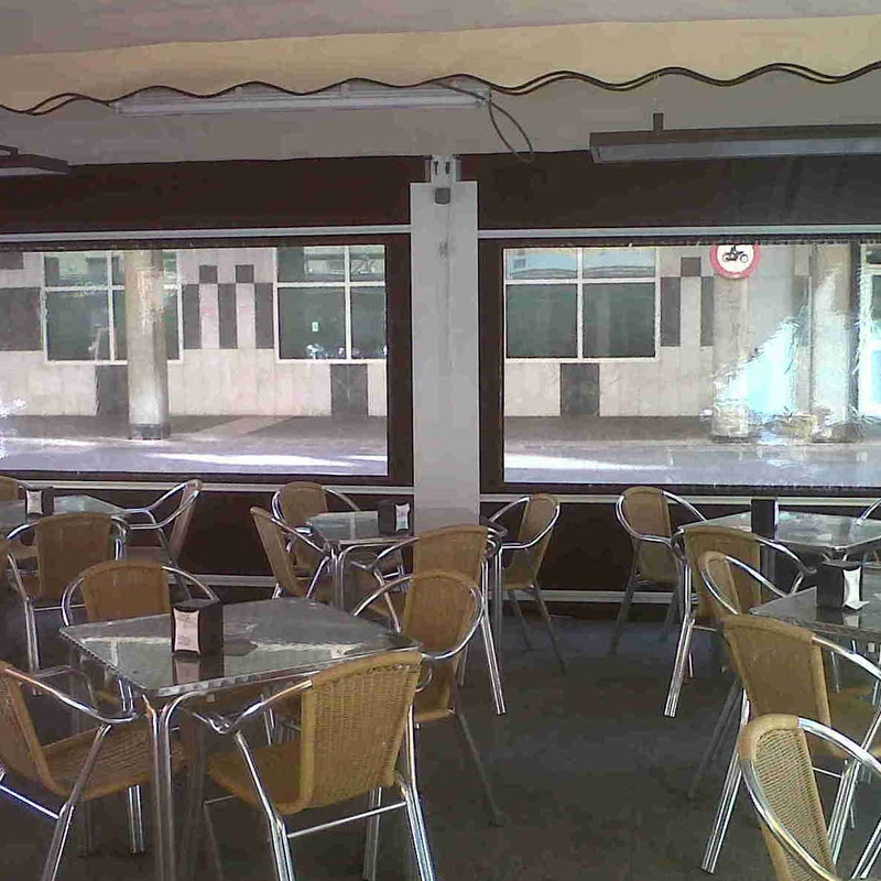 Toldos para terrazas con cortavientos. Especial hostelería.