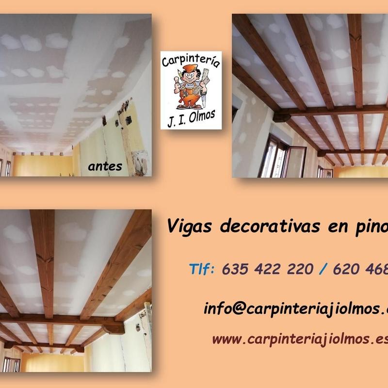 Vigas decorativas: Servicios de Carpintería J. I. Olmos