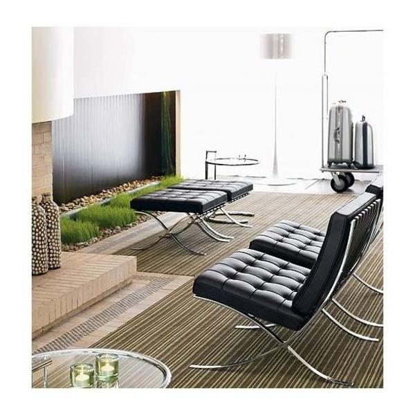 conjunto de sofas Barcelona en piel negra