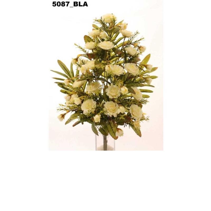 RAMO ENCARADO DALIAS X18. COLOR:BLANCO REF.:5087 BLA. PRECIO: 5,50 €
